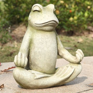 Frog Sitting in Lotus Posture Statue