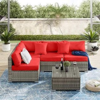 Garden Patio Sectional with Cushions
