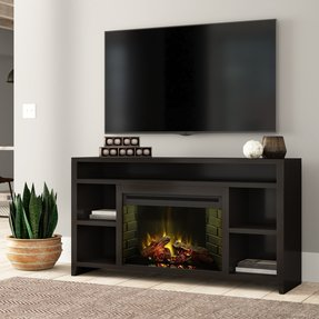 "Garretson TV Stand for TVs up to 70"" with Fireplace Included"