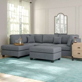 "Hemphill 104"" Reversible Sectional with Ottoman"