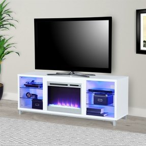 "Hetton TV Stand for TVs up to 70"" with Fireplace Included"