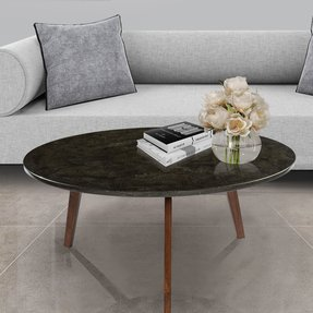 Iola Round Marble Coffee Table