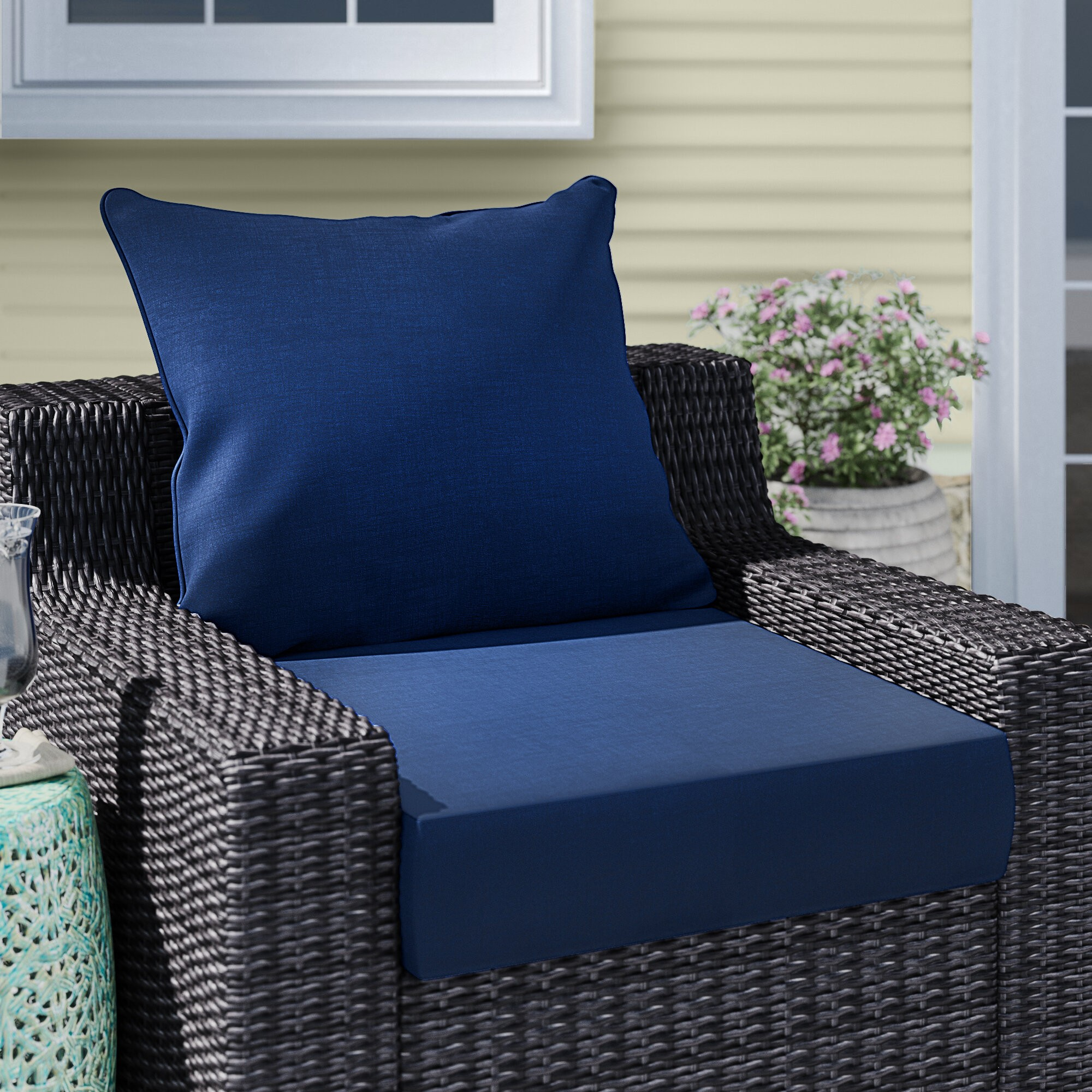 Leala Texture Outdoor Lounge Chair Cushion