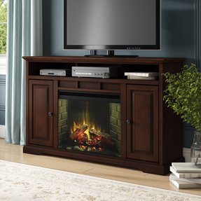 "Legrand TV Stand for TVs up to 70"" Electric with Fireplace Included"