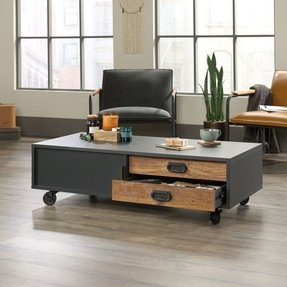 Loehr Wheel Coffee Table with Storage