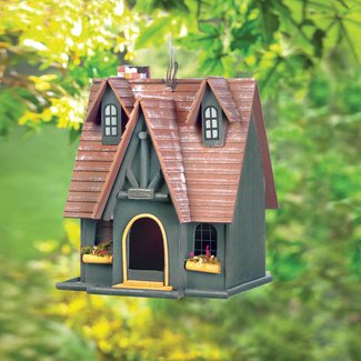 Luetta Fairytale Cottage 13 in  x 10 in x 9 in Hanging Birdhouse