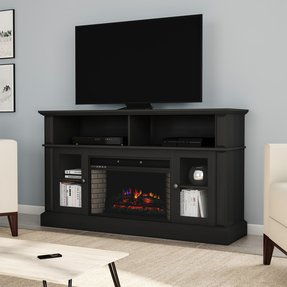 "Muier TV Stand for TVs up to 65"" with Fireplace Included"