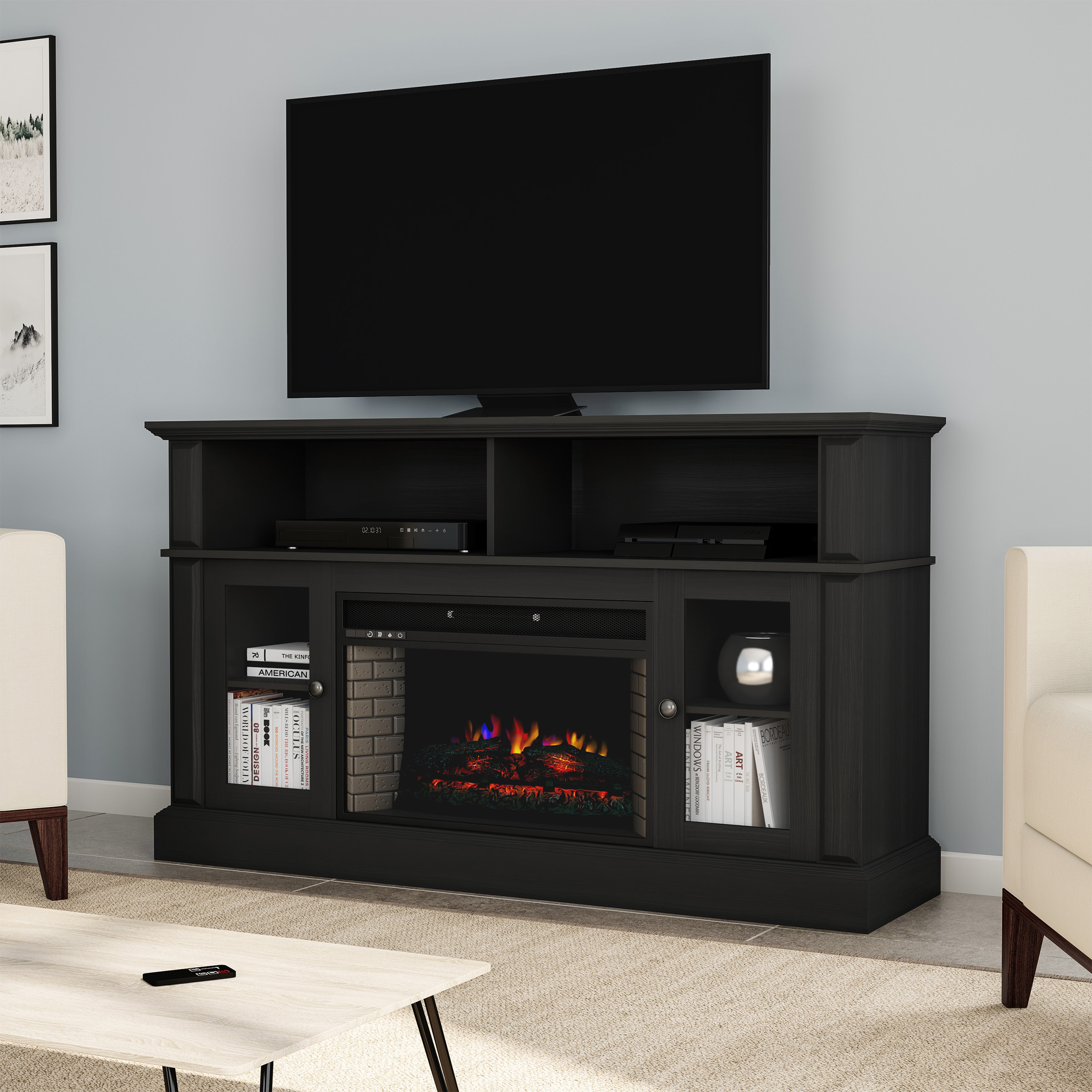 65 Inch Tv Stand With Fireplace Ideas On Foter