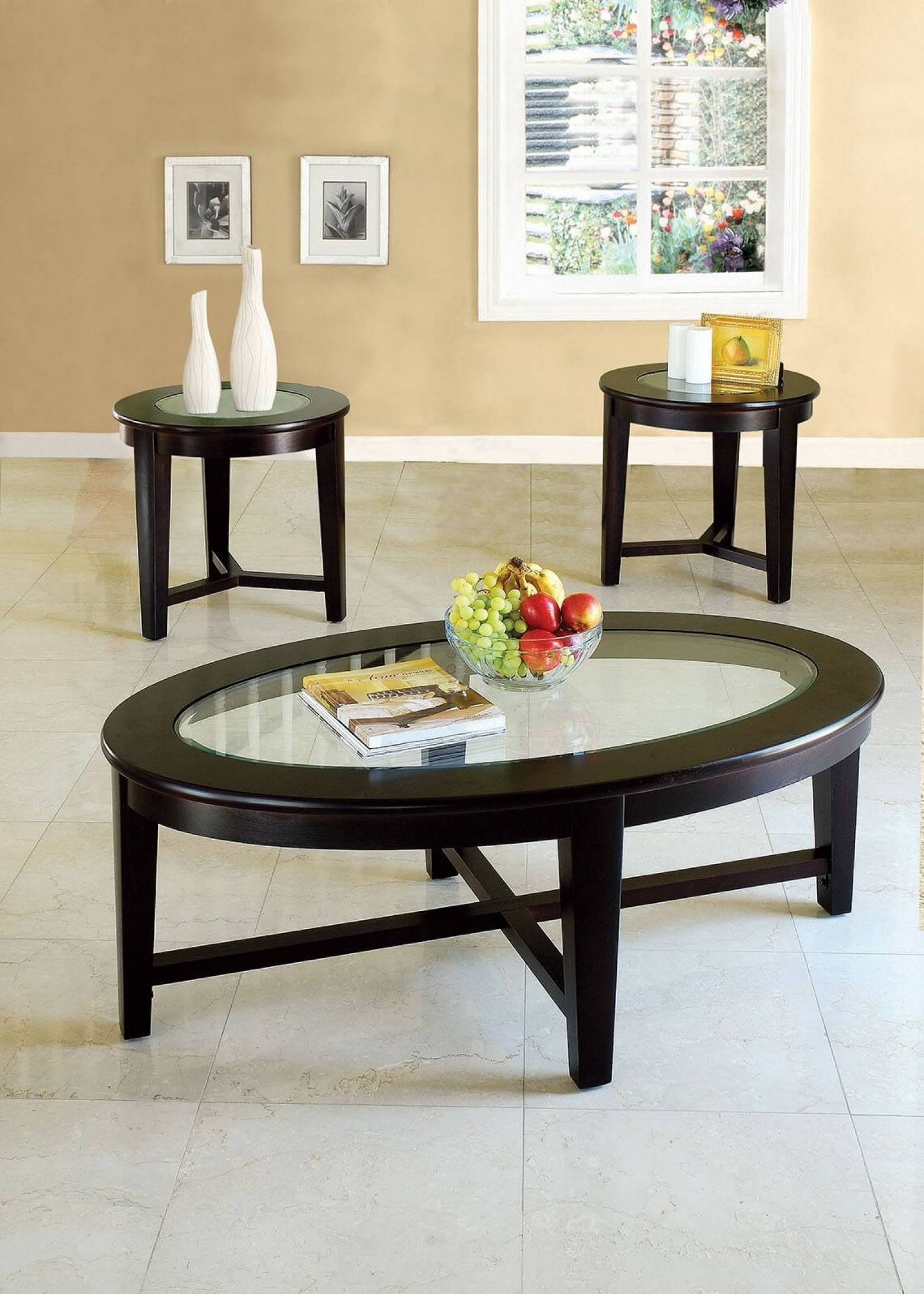 Natoma 3 Piece Coffee Table Set