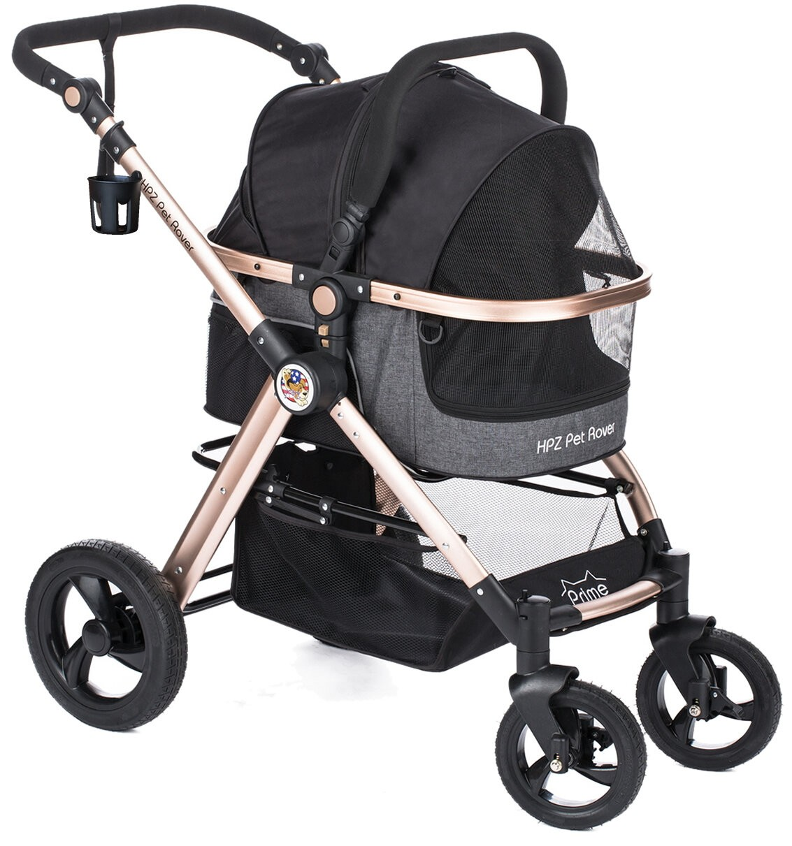 Pet Rover Prime Folding Standard Stroller with Detachable Carrier