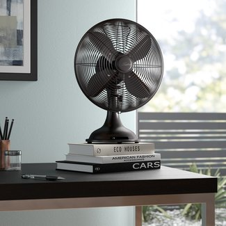 "Retro 12"" Oscillating Table Fan"