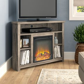 "Senecaville TV Stand for TVs up to 50"" with Electric Fireplace Included"