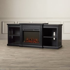 "Stowe TV Stand for TVs up to 70"" with Fireplace Included"