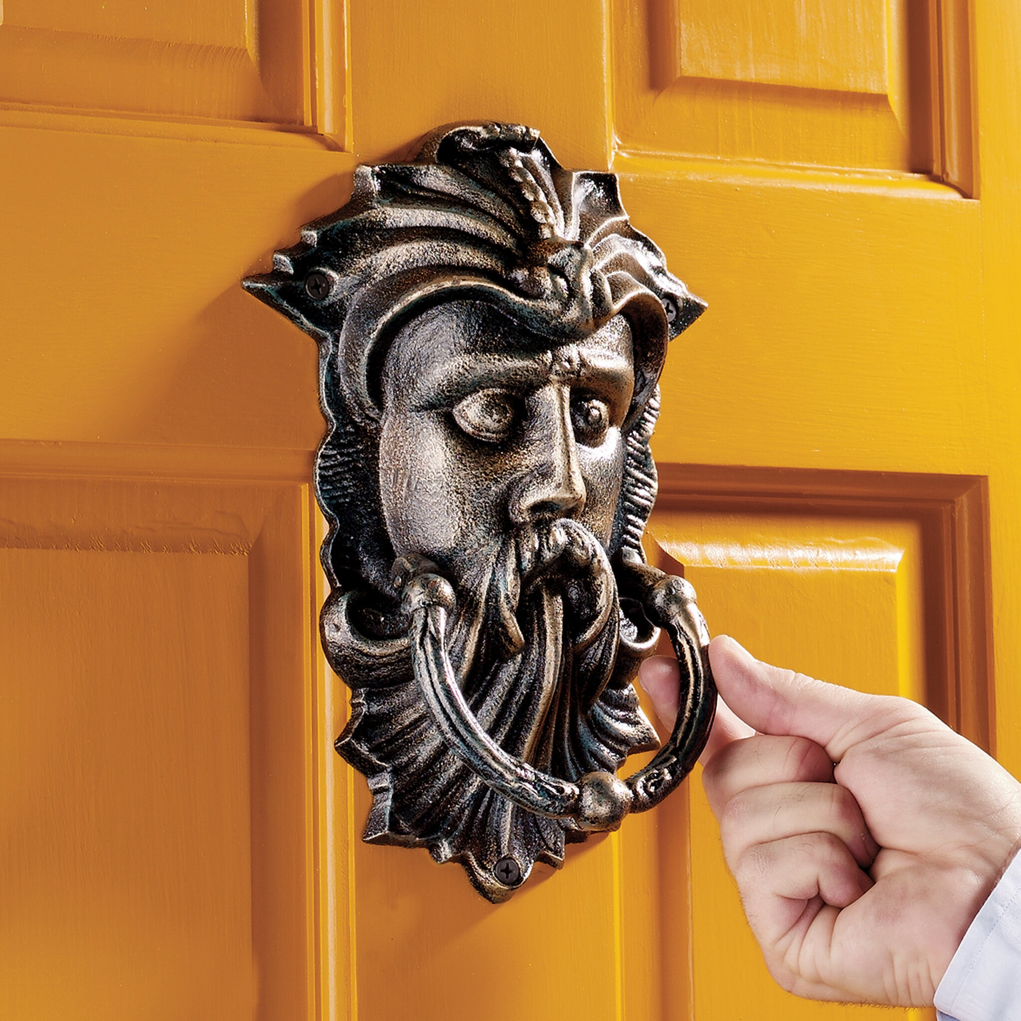 Sutherland House Greenman Authentic Foundry Door Knocker