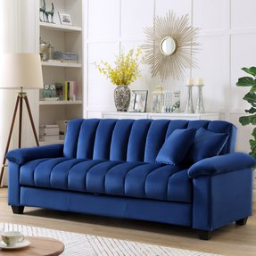 "Terrie 83"" Pillow Top Arms Sleeper Sofa"