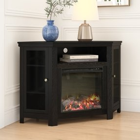 "Tieton Corner TV Stand for TVs up to 50"" with Electric Fireplace Included"