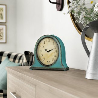 Traditional Metal Mantel Clock