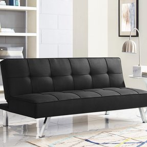 "Twin 66.1"" Tufted Back Convertible Sofa"