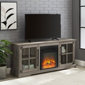 "Vilray TV Stand for TVs up to 65"" with Electric Fireplace Included"
