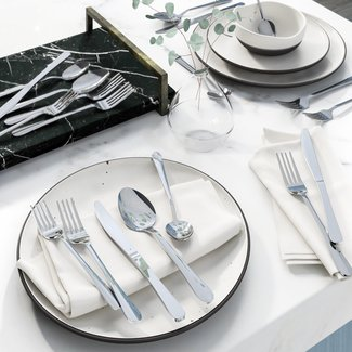 Wayfair Basics 20 Piece 18/0 Stainless Steel Flatware Set, Service for 4