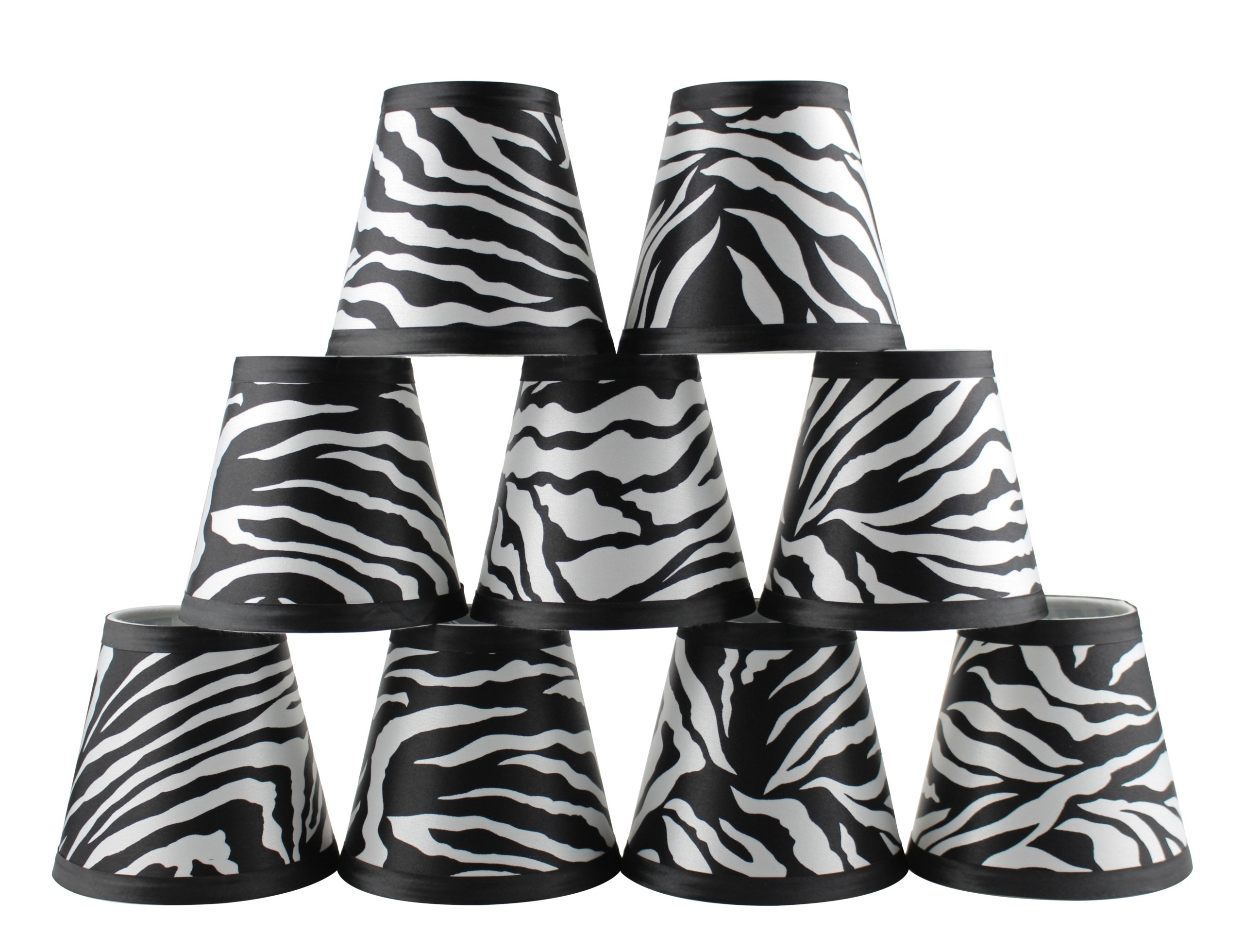 "4.5"" H Empire Lamp Shade ( Clip On ) in Black/White"