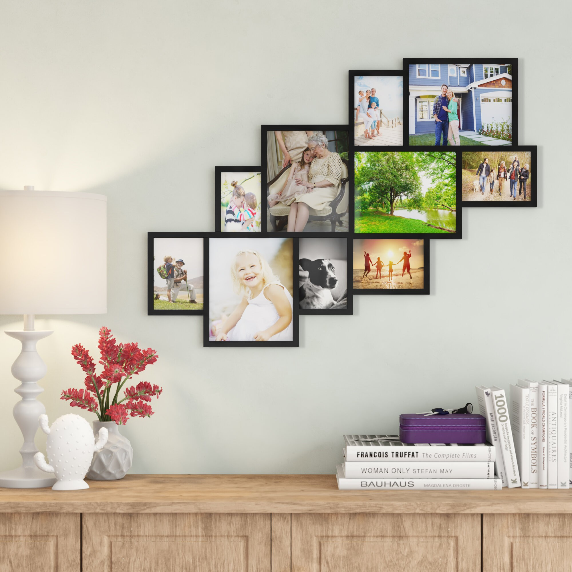 Picture Frame Collage Photo Arrangement Set Hanging Photograph Frames Home Decor
