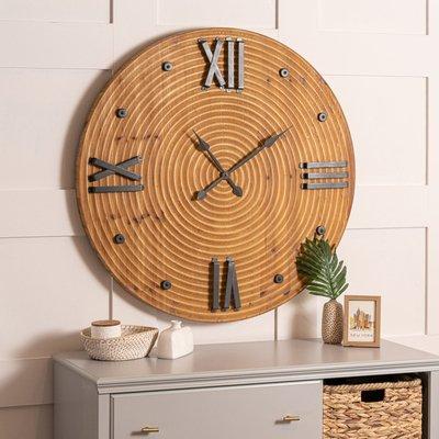 Birch Wood Wall Clock