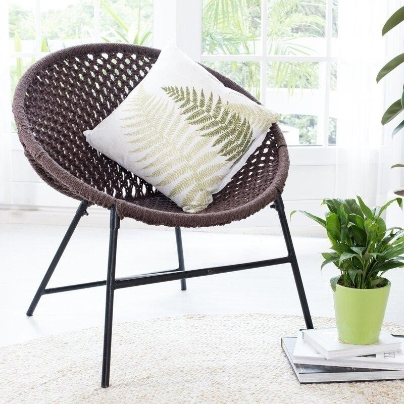 Brown Papasan Chair with Cushion