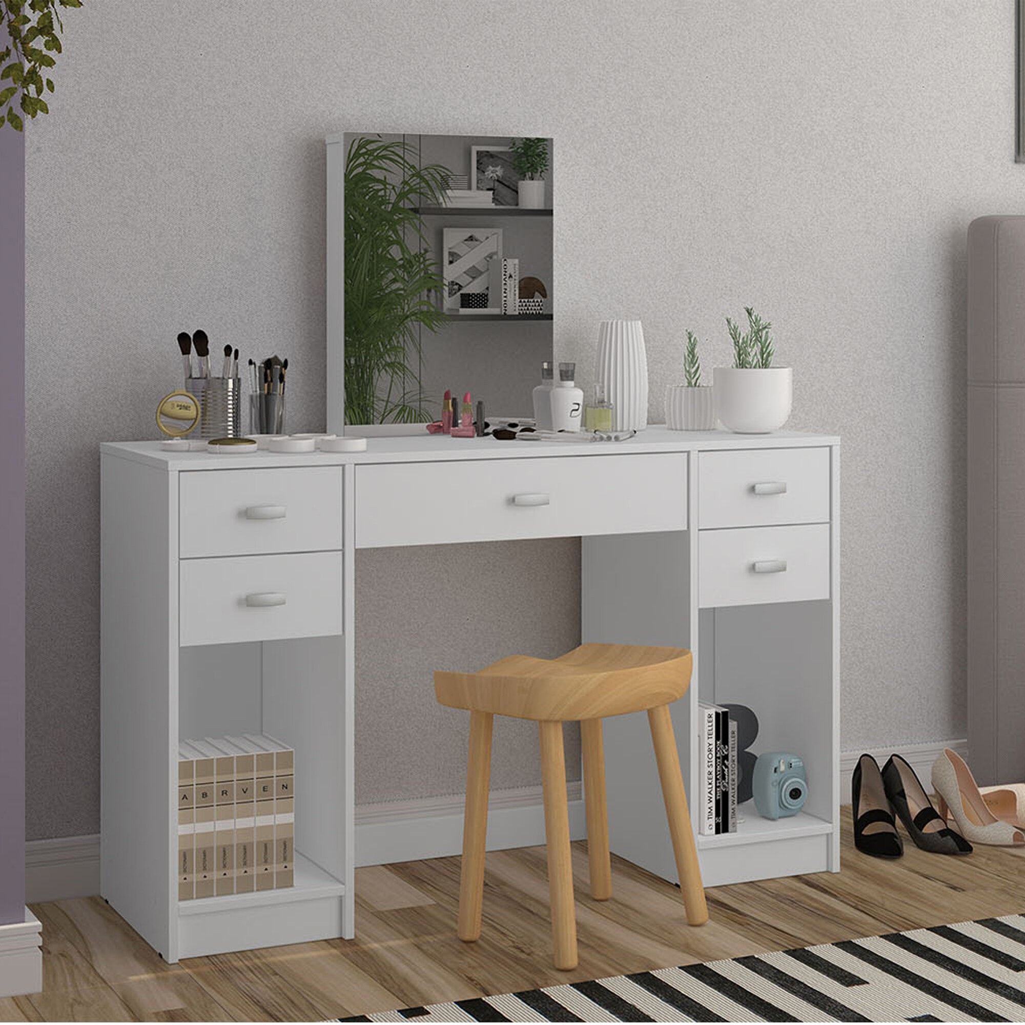 Collete Dressing Vanity with Mirror
