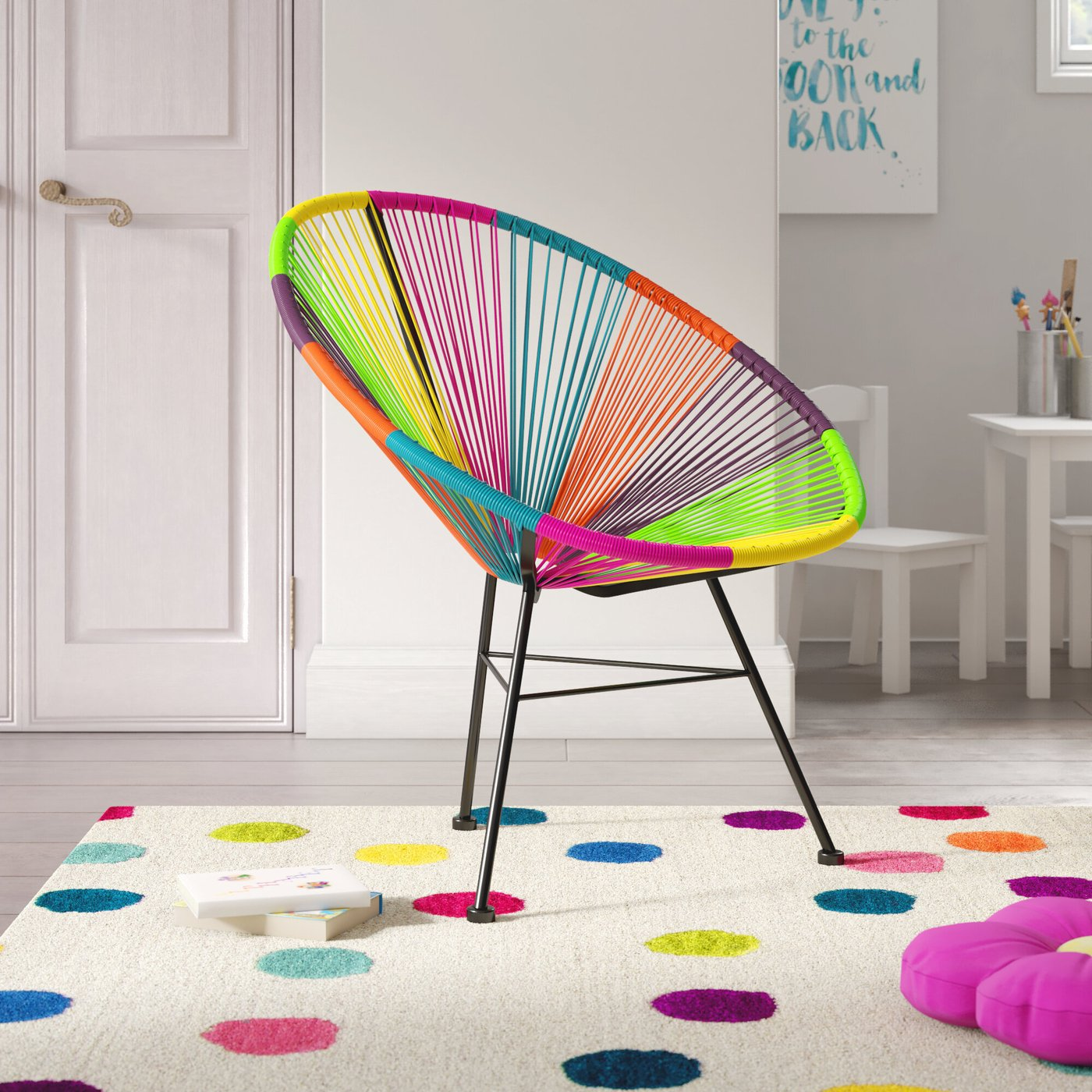 Colorful Papasan Chair