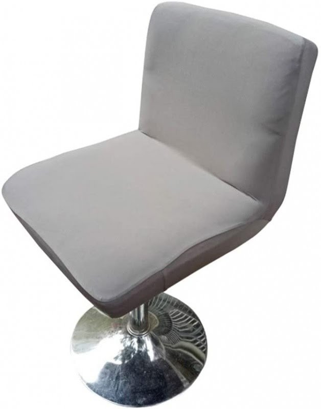 Deisy Dee Stretch Chair Cover Slipcovers for Low Short Back Chair Bar Stool Chair C114 (Light Grey)