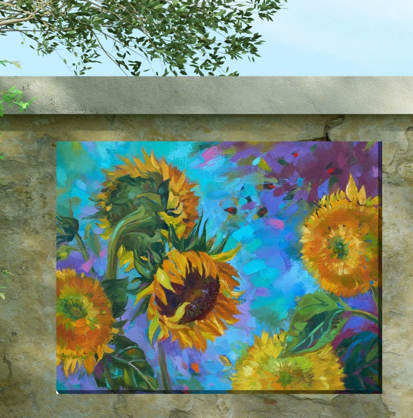 Ferdinand Sunflower Outdoor Wall Decor