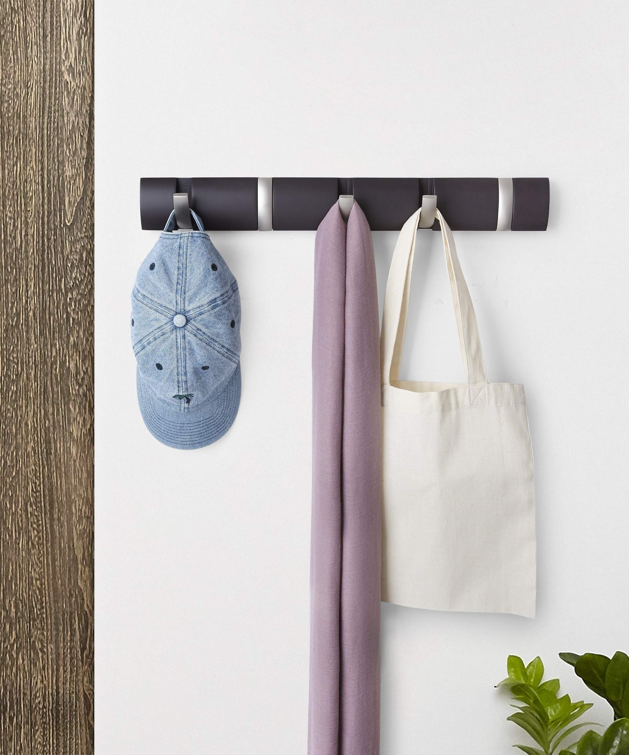Flip 5 - Hook Wall Mounted Coat Rack