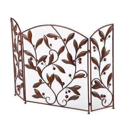 Floral 3 Panel Metal Fireplace Screen