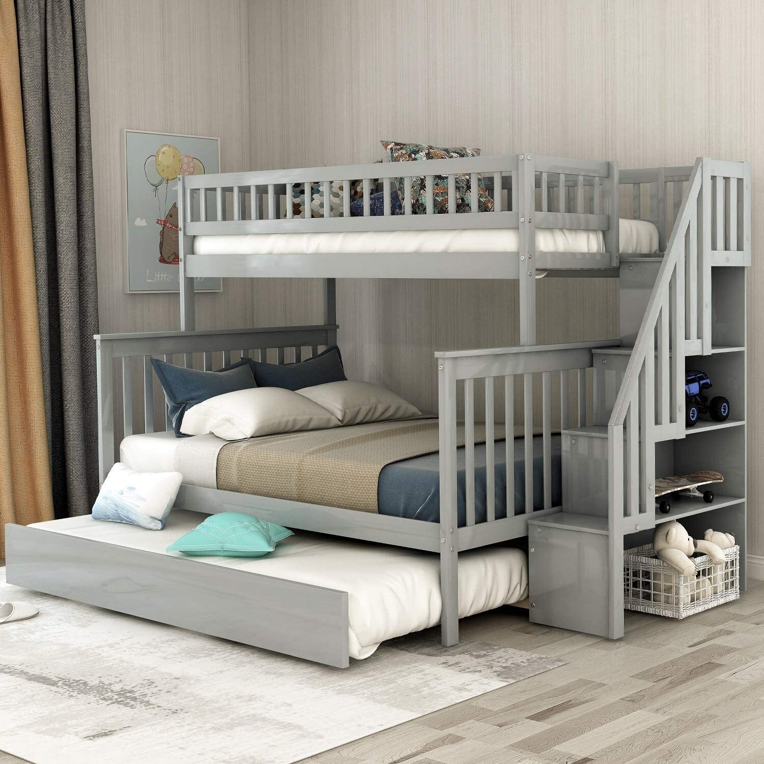 7 Cool Designs For Triple Bunk Beds Foter