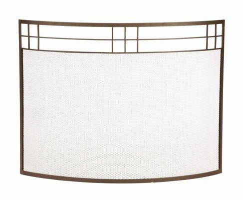 Modern Single Panel Iron Fireplace Screen