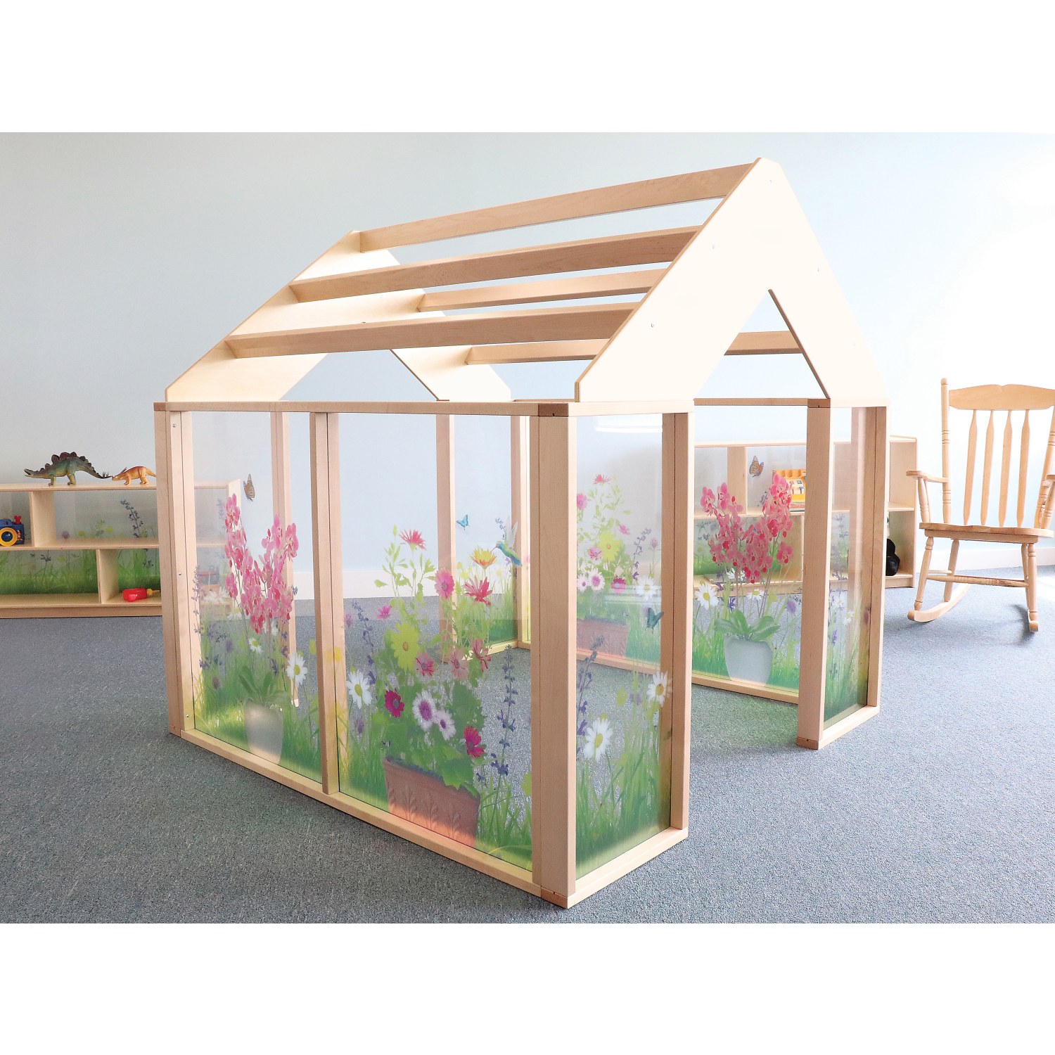 Nature View Play 5' x 5' Indoor Solid + Manufactured Wood Playhouse