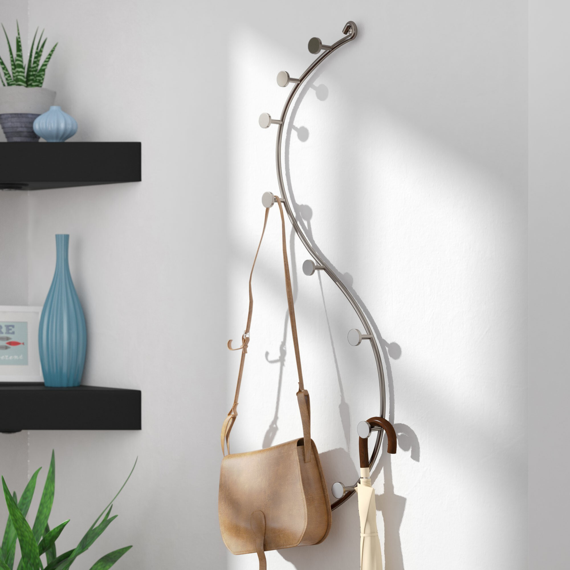 Orozco 9 - Hook Wall Mounted Coat Rack