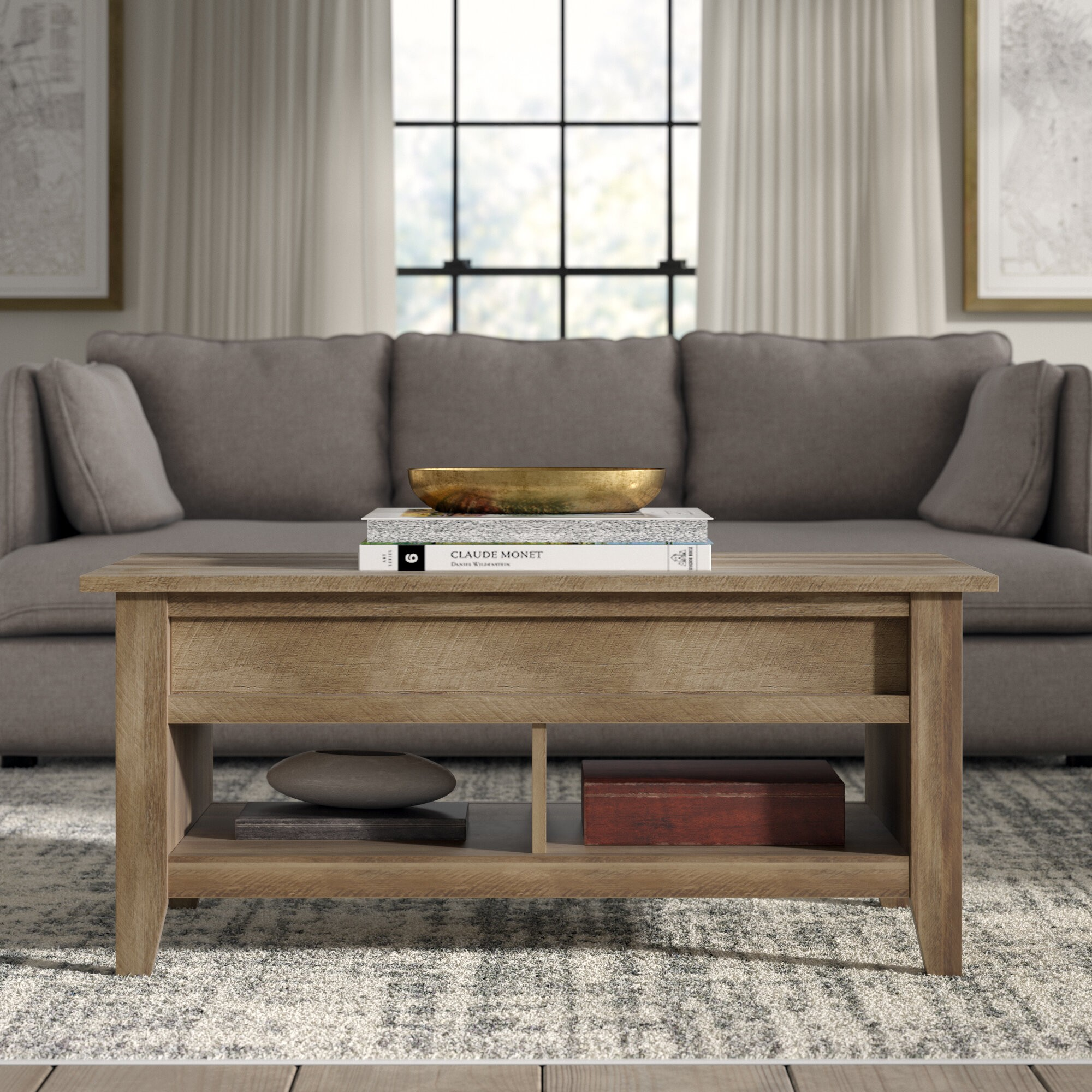 Riddleville Lift Top Extendable Coffee Table with Storage