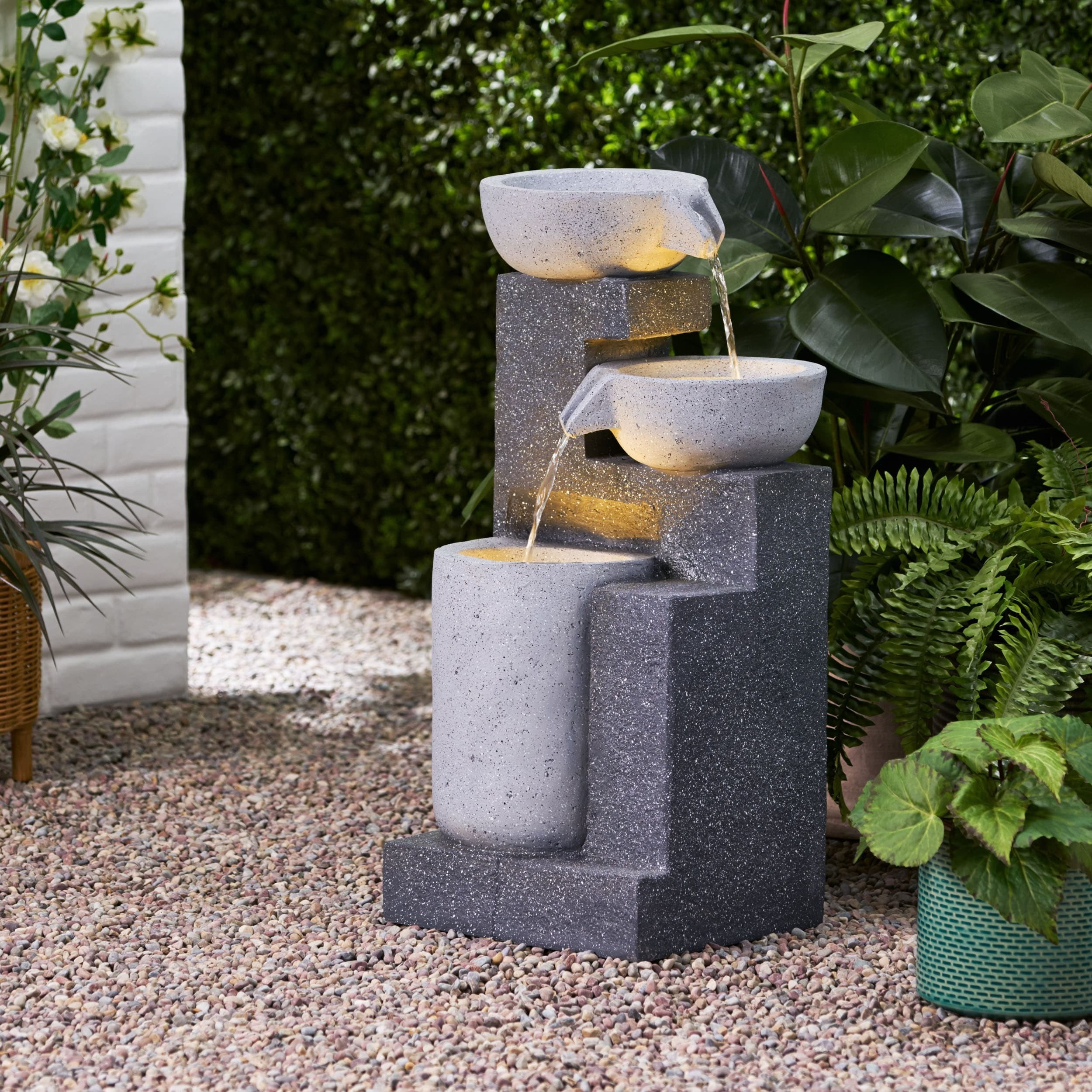 Outdoor Corner Fountains Ideas On Foter Contemporary outdoor water fountains canada