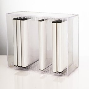 Clear Stackable DVD Holder - holds 14 standard DVD cases