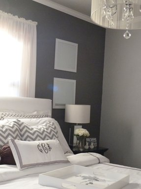 Grey room white furniture