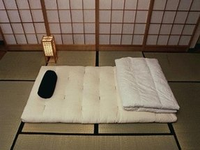 Traditional japanese floor futon mattresses