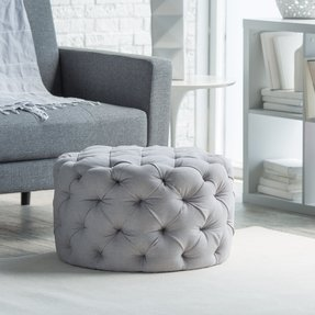 Round tufted ottomans 1