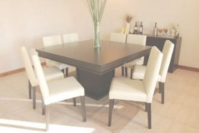 Black 8 seater dining table