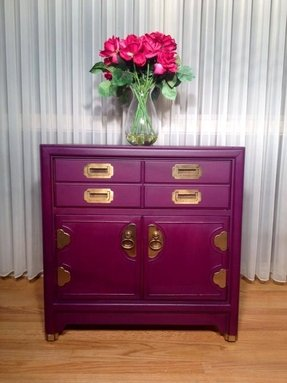 Purple campaign nightstand by twice loved furniture creations