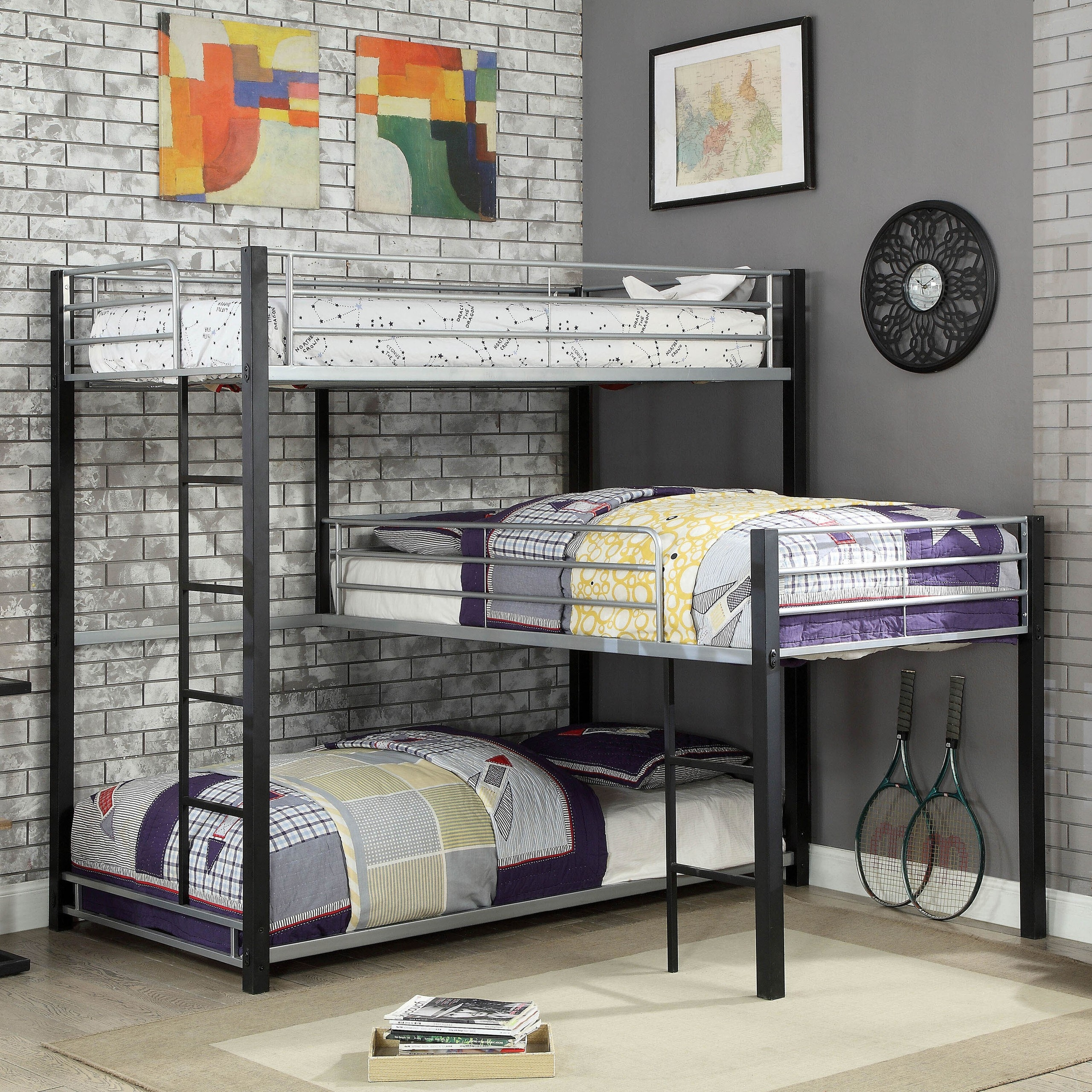 Picture of: 7 Cool Designs For Triple Bunk Beds Foter