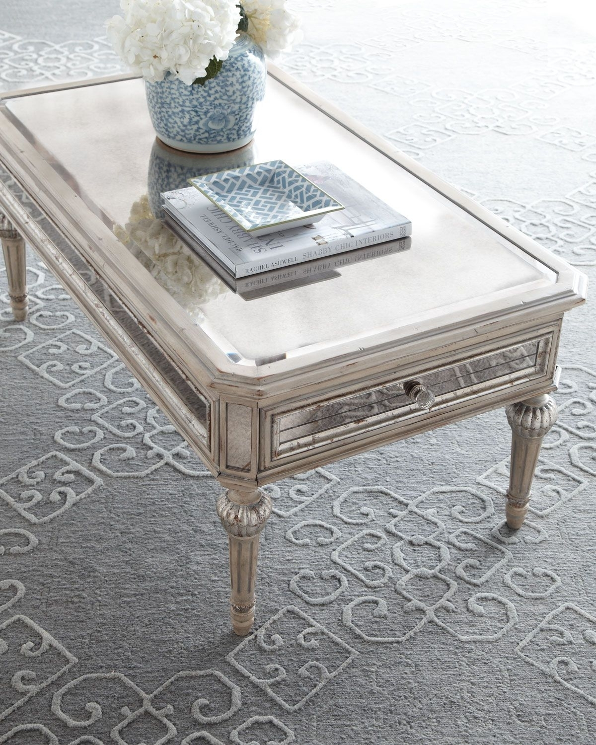 antique mirrored coffee table ideas