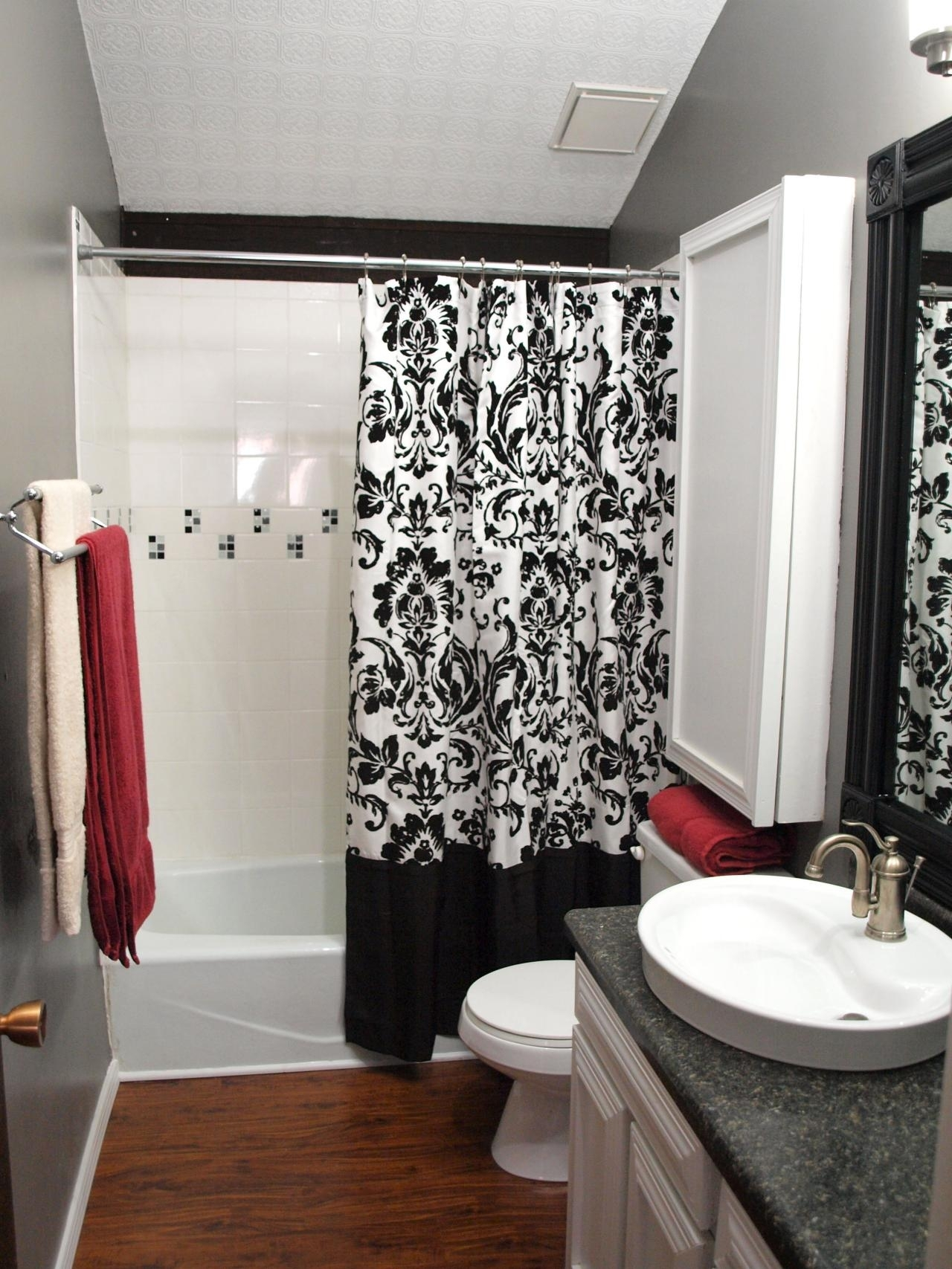Black And White Shower Curtain Ideas On Foter