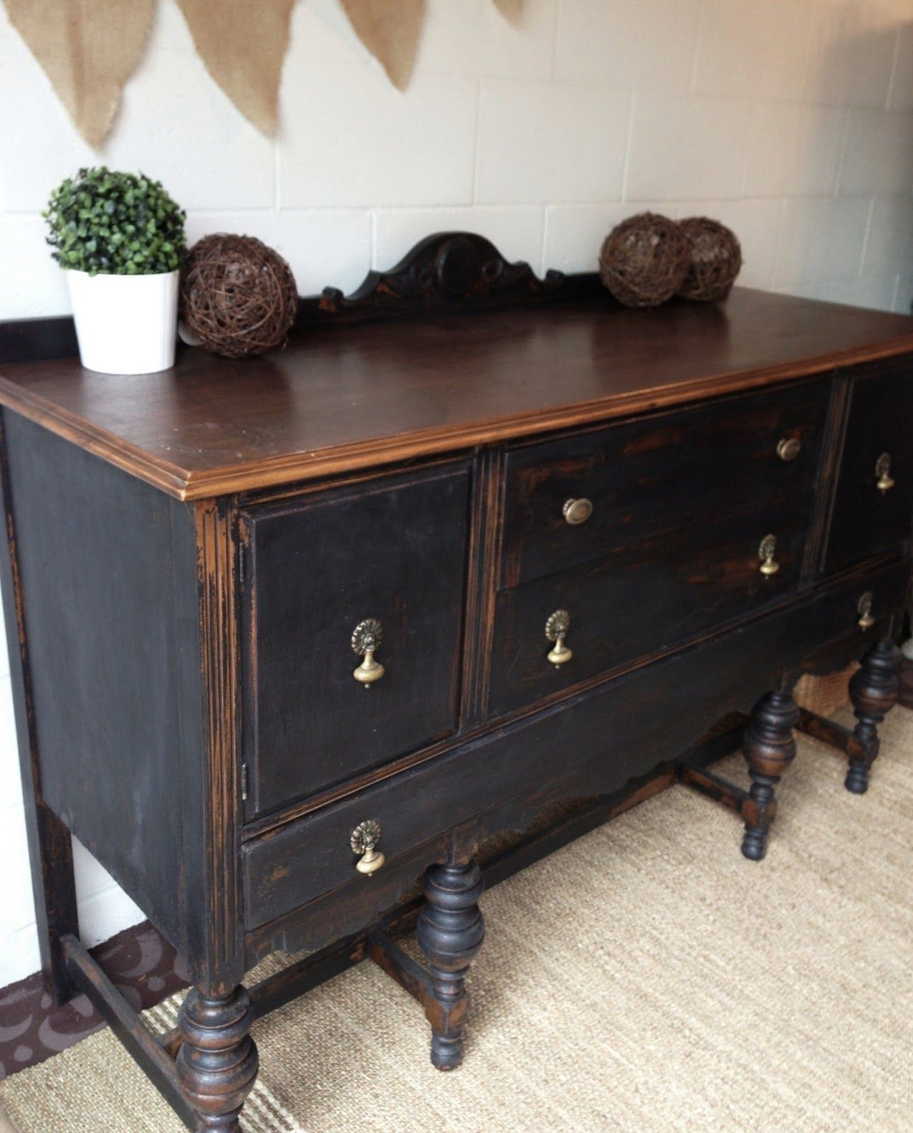 Picture of: Black Vintage Sideboard Ideas On Foter